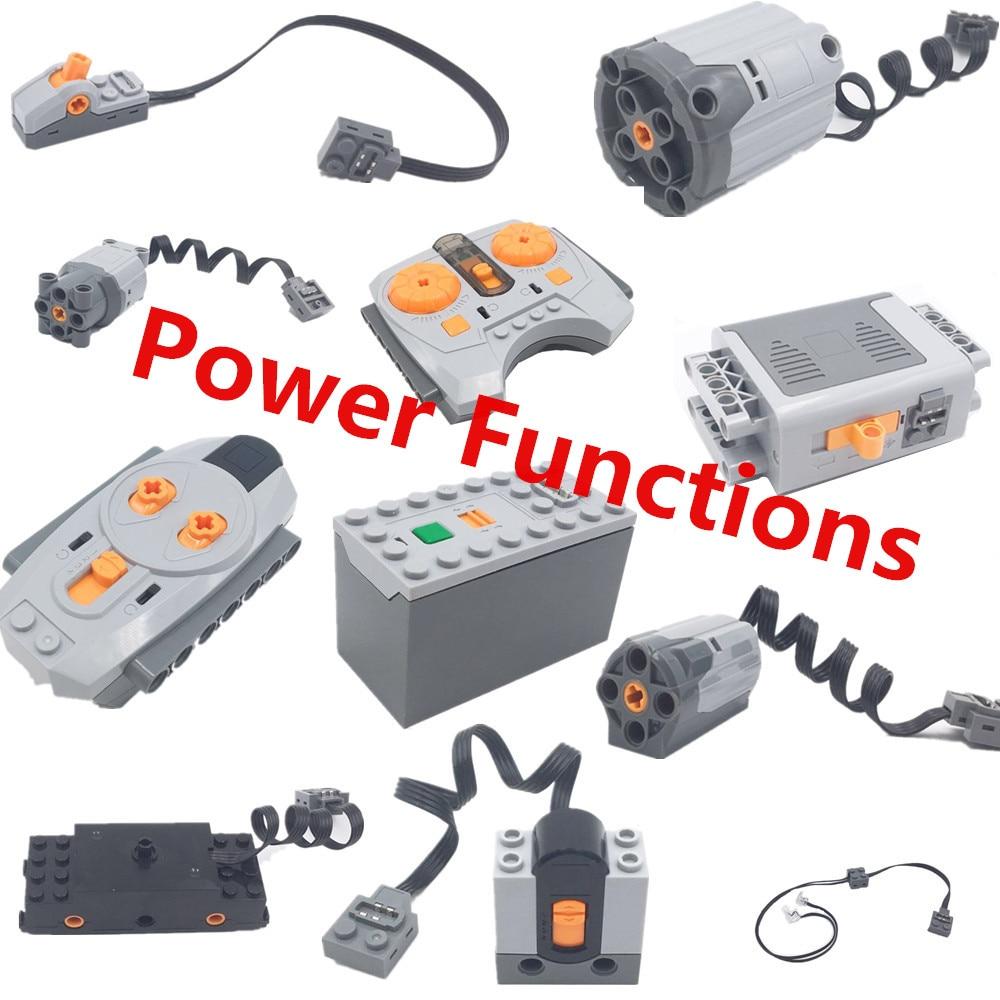Legoingly Motor Technic Power Funktionen Serie 8881 88003 8882 Zug Fernbedienung Fernbedienung Empfänger Batterie Box Schalter LED Licht