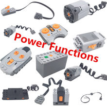 Motor Technic Power Functions Series 8881 88003 8882 Train Remote Control Remote Receiver Battery Box Switch LED Light(China)