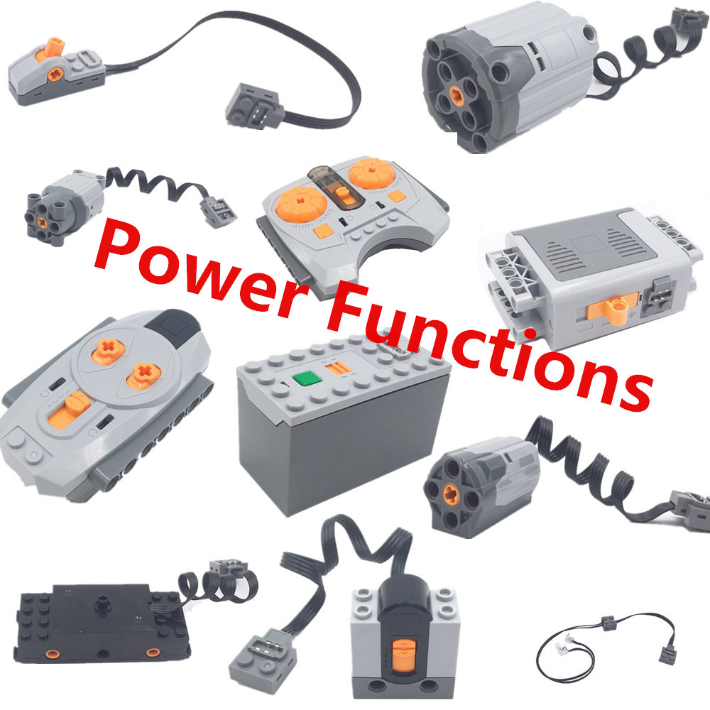 New moc Compatible Legoing Technic Motor Box LED Power Functions Series 3368 Remote Control Battery Switch Lights 8886 kids Toys