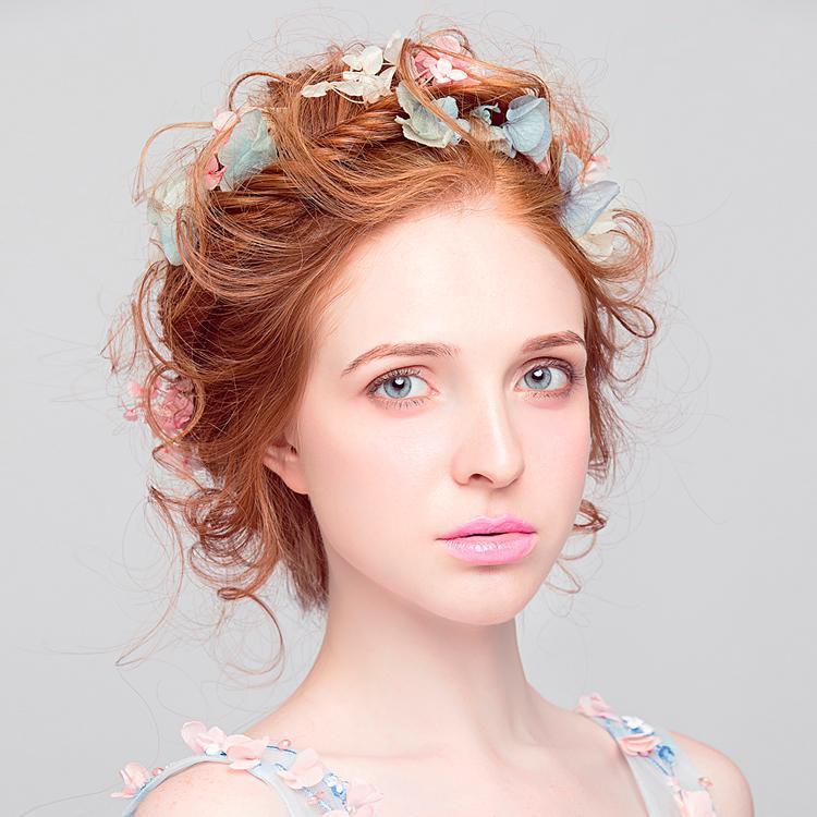 Real Fairytale Weddings: Real Flower Fairy Headwear Handmade Pink Blue Mix Colors
