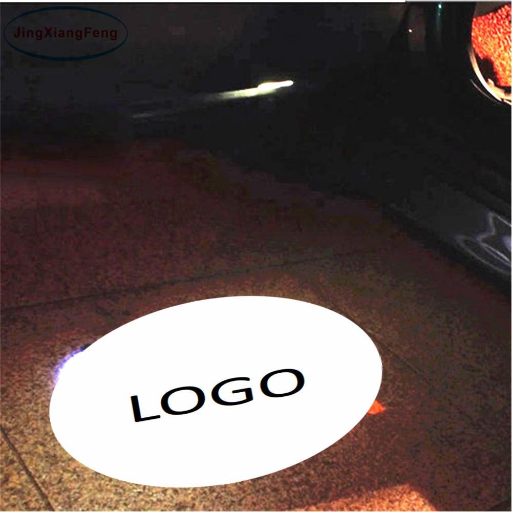 JingXiangFeng 2PCs LED For Mercedes Car door welcome light Led Logo Light courtesy led car laser projector Logo For BMW