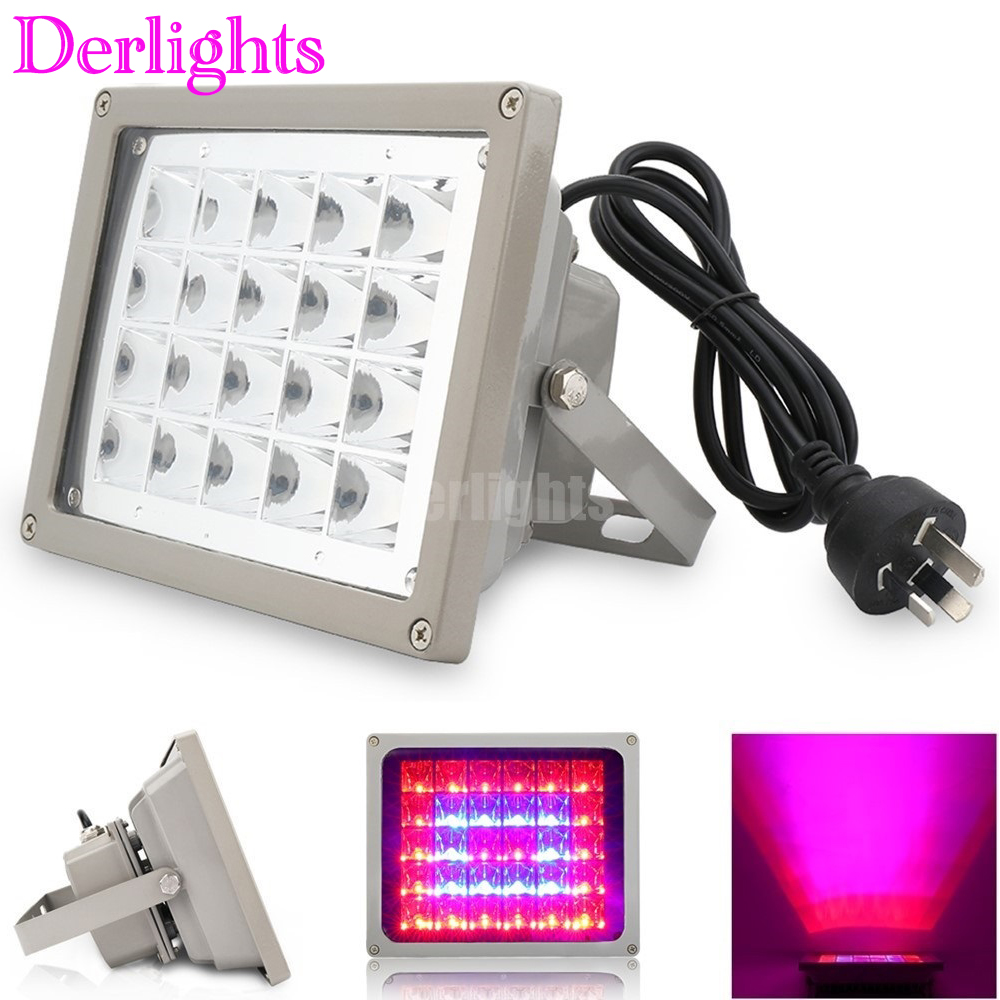 12W/40W/60W/100W LED Grow Light Blue+Red For Hydroponic Plant Flowers Vegatables Greens Waterproof IP65 Flood LED Plant Lamps