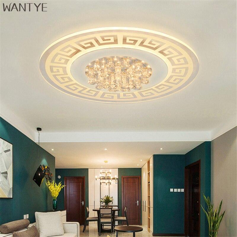 Moderne Runde Kristall Deckenleuchten FHRTE Chinesische Deckenleuchte Lampe Oberflche Montiert Schlafzimmer Wohnzimmer LeuchtenChina
