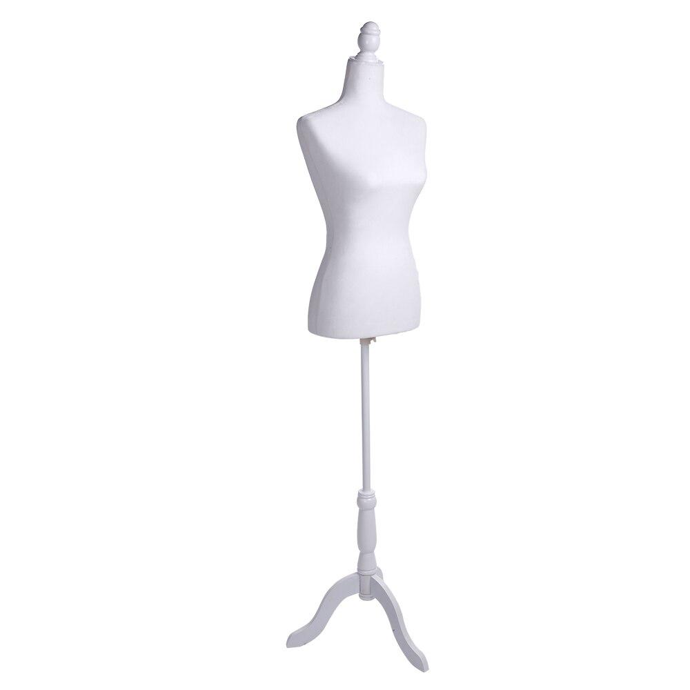 Robe blanche forme Mannequin corps femme demi corps Mannequin buste pour l'affichage des vêtements SKU87706880