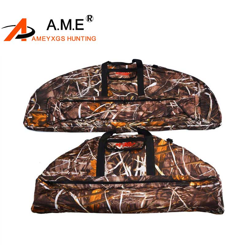 Archery Bow Bag Black Soft Plush Fabric Compound Bow Case Puller Protector Compound Bow Pocket