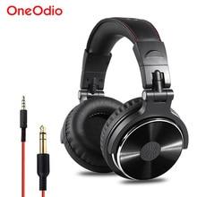 Oneodio монитор с функцией записи наушники Hifi Профессиональная Студия DJ басовые наушники стерео гарнитура для Xiaomi iPhone с микрофоном