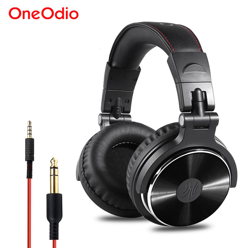 Oneodio Recording Monitor Headphones Hifi Professional Studio DJ Headphone Bass Stereo Headset For Xiaomi iPhone With Microphone image