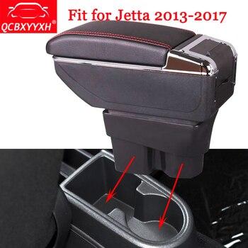 QCBXYYXH автомобильный Стайлинг ABS автомобильный подлокотник коробка центральная консоль коробка для хранения держатель чехол для Volkswagen VW Jetta ...