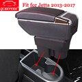 QCBXYYXH Car Styling abs samochód podłokietnik ze schowkiem centrum pudełko do przechowywania na deskę rozdzielczą etui na uchwyt do Volkswagen VW Jetta 2013 2017 akcesoria Podłokietniki Samochody i motocykle -