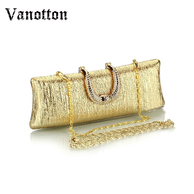 Fashion Black And Gold Clutches Evening Bag Ladies Luxury