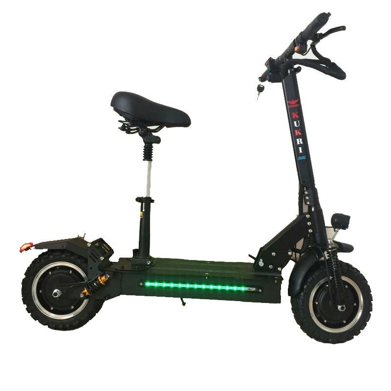 11 pouces scooter électrique 60 V double frein à huile hoverboard double entraînement planche à roulettes électrique double amortisseur haute puissance scooter