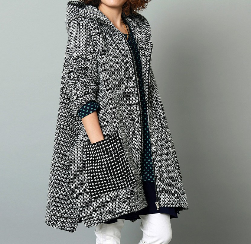 Clearance 2015 Female winter fluid loose plus size crotch trench medium long outerwear