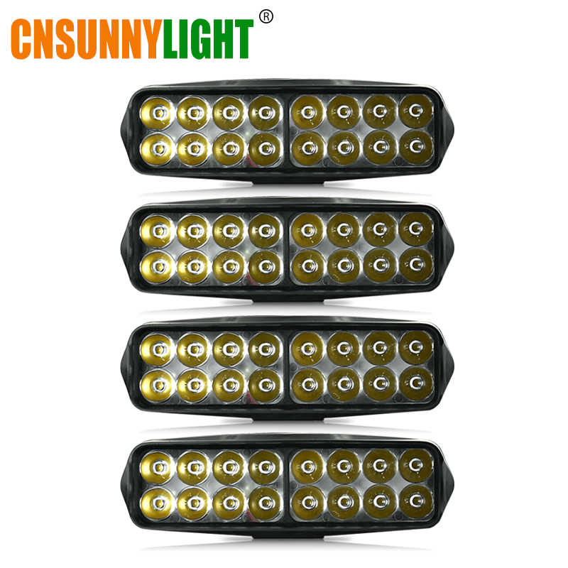 CNSUNNYLIGHT 4x 7inch LED Bar LED Work Light Bar 20W/Lamp White Driving Offroad Tractor Truck 4x4 SUV ATV 12V 24V Car Fog Lights