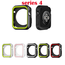 38mm 42mm Sports Silicone Cover Frame Soft Rubber Protector Protective Case For Apple Watch series 3 2 1 For iwatch 4 40mm 44mm silicone cover for apple watch case 42mm 38mm 40mm 44mm sport band frame rubber soft case for iwatch series 4 3 2 1 back cover