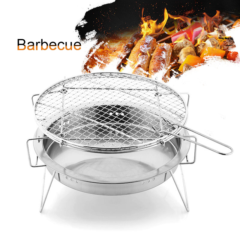 Sporting Barbecue Grills Stainless Steel Bbq Stove Outdoor Party Portable Round Foldable Picnic Stoves Xr-hot Camping & Hiking Outdoor Stoves