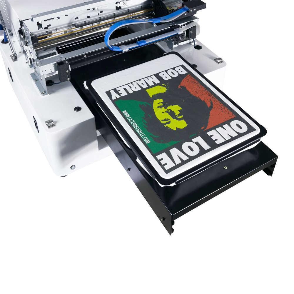 Pengiriman cepat langsung garmen impressora A3 digital flatbed printer untuk t shirt