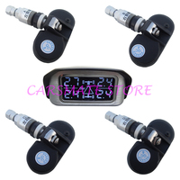 SPY Car Wireless TPMS Tyre Pressure Monitoring System With 4 Internal Sensors 433.92 MHZ Angle Adjustable LCD Display Carsmate
