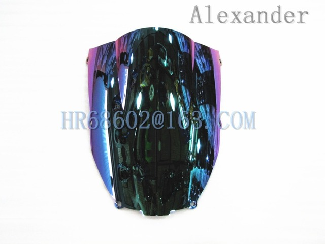 For Kawasaki ZX6R 2000 2001 2002 ZX 6R 636 00 01 02 zx6r Iridium  Windshield WindScreen Double Bubble