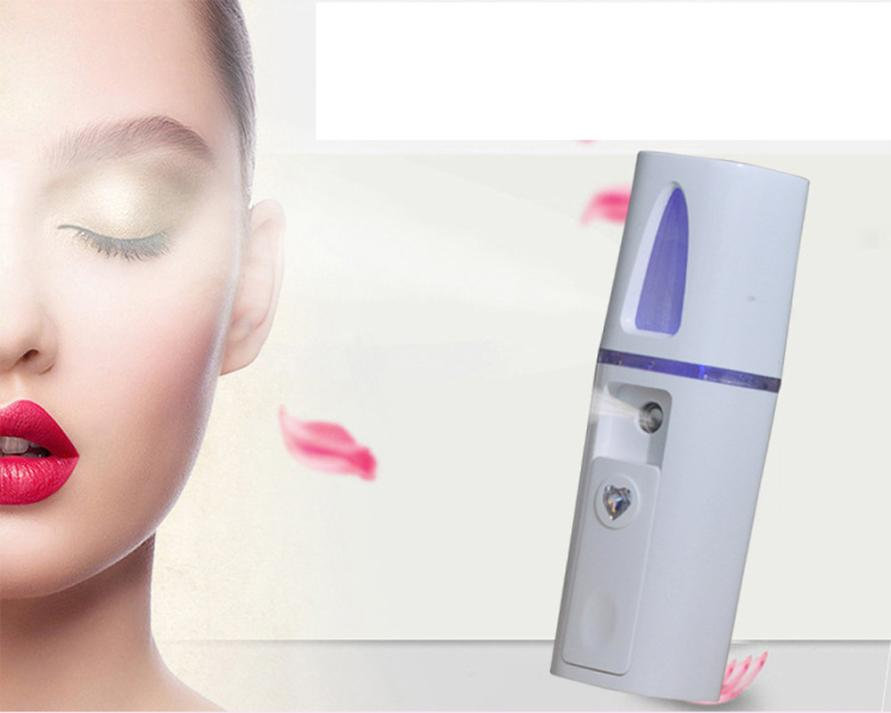 Portable Nano Mist Sprayer Facial Body Nebulizer Steamer Moisturizing Skin Care Mini USB Face Spray Beauty Device 5U96 nano spray mist facial steamer skin care skin moisturizing ultrasonic face beauty instrument ozone anion steamed face care