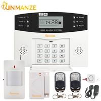 Free Shipping 1 Set 433 MHz Wireless GSM SIM Home Burglar Security Alarm System PIR Detector