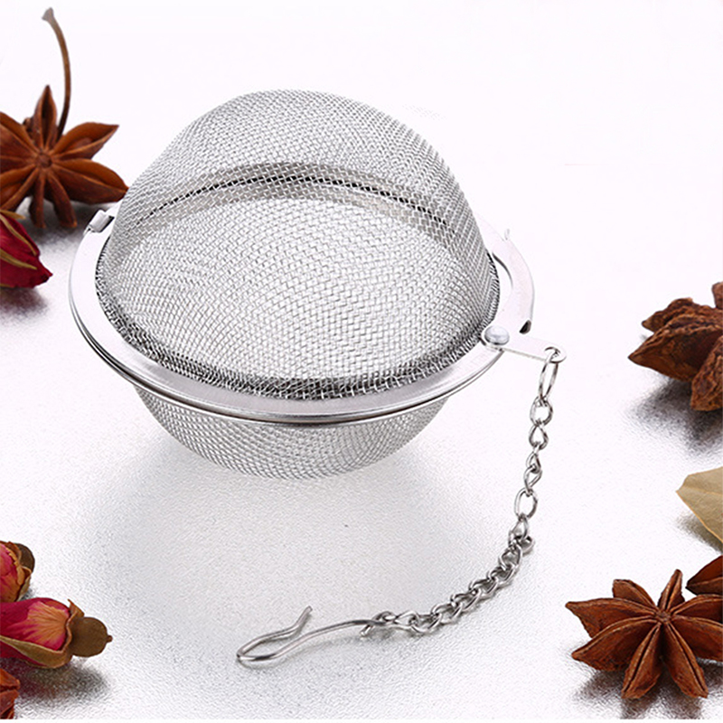 TTLIFE Reusable Mesh Herbal Ball Strainer Tea Filter Infuser  Holder Kitchen Accessories