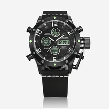 Античная черный световой мужской часы Цифровой СВЕТОДИОДНЫЙ Кварцевые Открытый Спортивные Часы Военная Relogio Masculino Часы С Кожаный Ремешок