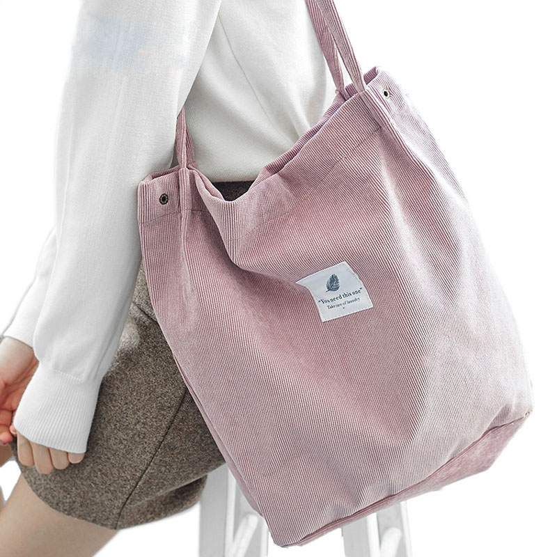 Casual Handbag Purses Tote Crossbody-Bags Corduroy Women HHYUKIMI Solid for Package Environmental