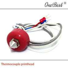 3D printer accessories Thermocouple heated print head kit nozzle 0.4mm line length 500mm Free shipping