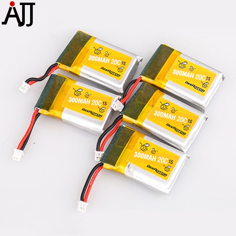 BeeRotor 1S <font><b>3.7V</b></font> <font><b>300mah</b></font> 20C <font><b>LiPo</b></font> <font><b>Battery</b></font> for TinyBee Micro FPV Racing Drone 5pcs/Lot image