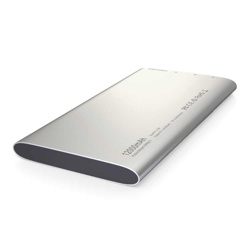 Vinsic obcych P11 Ultra Slim 12000 mAh Power Bank 5 V 2.4A podwójny zewnętrzna ładowarka do baterii USB dla iPhone X 8 8 Plus xiaomi Huawei