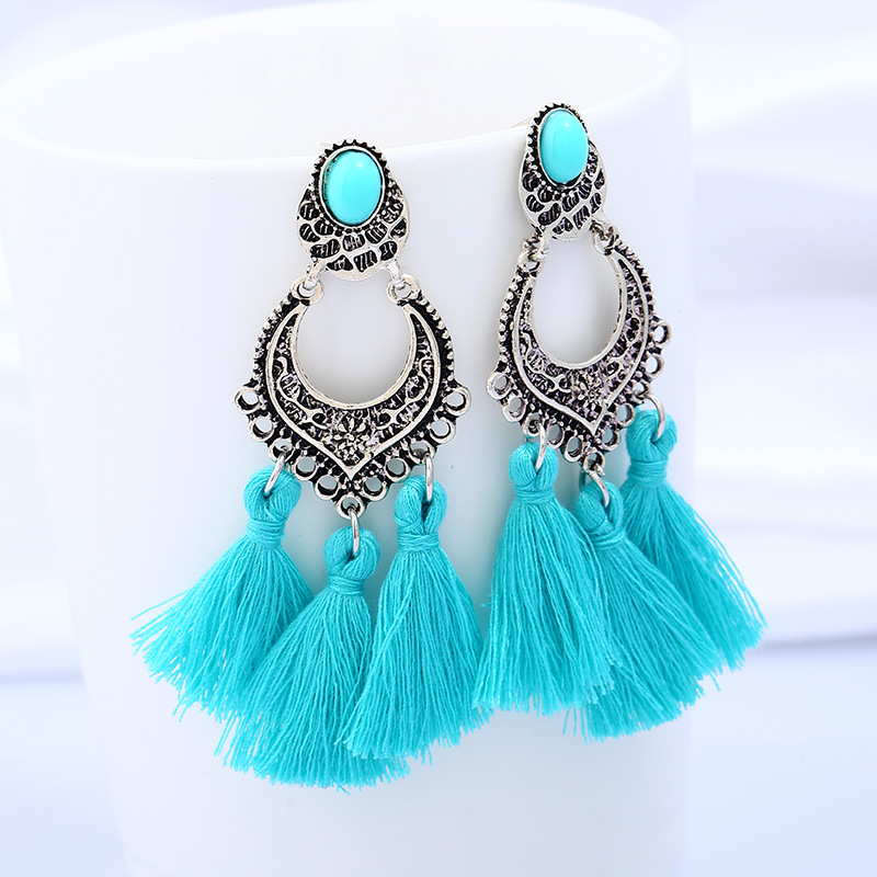 Boho Drop Dangle Fringe Earrings Vintage Ethnic Statement Tassel Earrings For Women Handmade Bohemian Earrings Fashion Jewelry