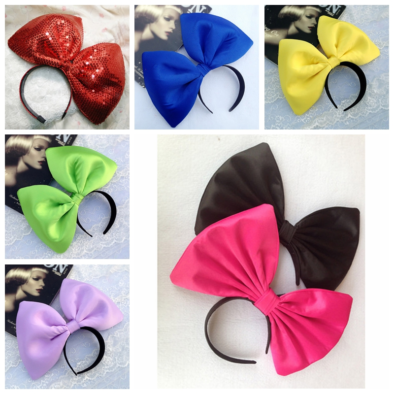 Oversized Super Giant Big Bow KIKI Cosplay Hair Headband Party Photo Props for adult Halloween Christmas  Headwear Accessories