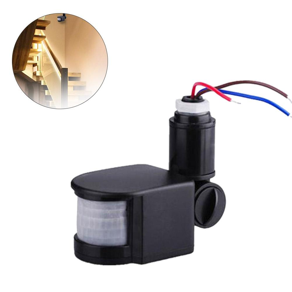 LED Motion Sensor 85V-265V Automatic Infrared PIR Infrared Detector 180 Degree Rotating Outdoor Timer Switch Motion Sensor