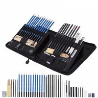 40pcs Pencil Set Stationery Set Professional Sketching Drawing Pencils Kit Set Wood Pencil For Art Supplies School Students Pens