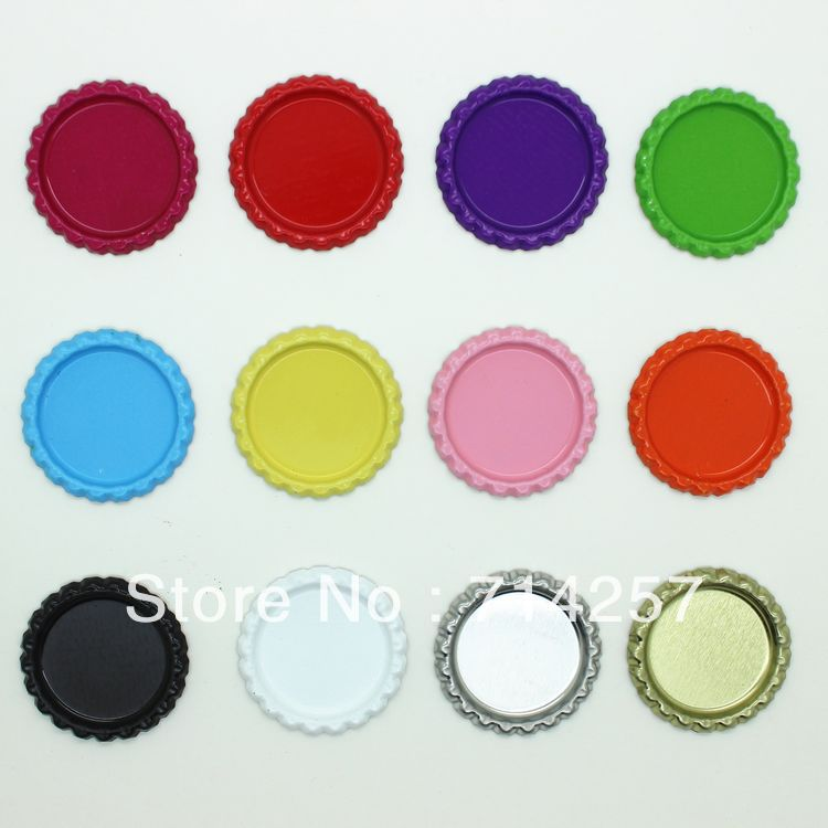 1 inch free shipping flattened bottle caps in double side for Wholesale bottle caps for crafts