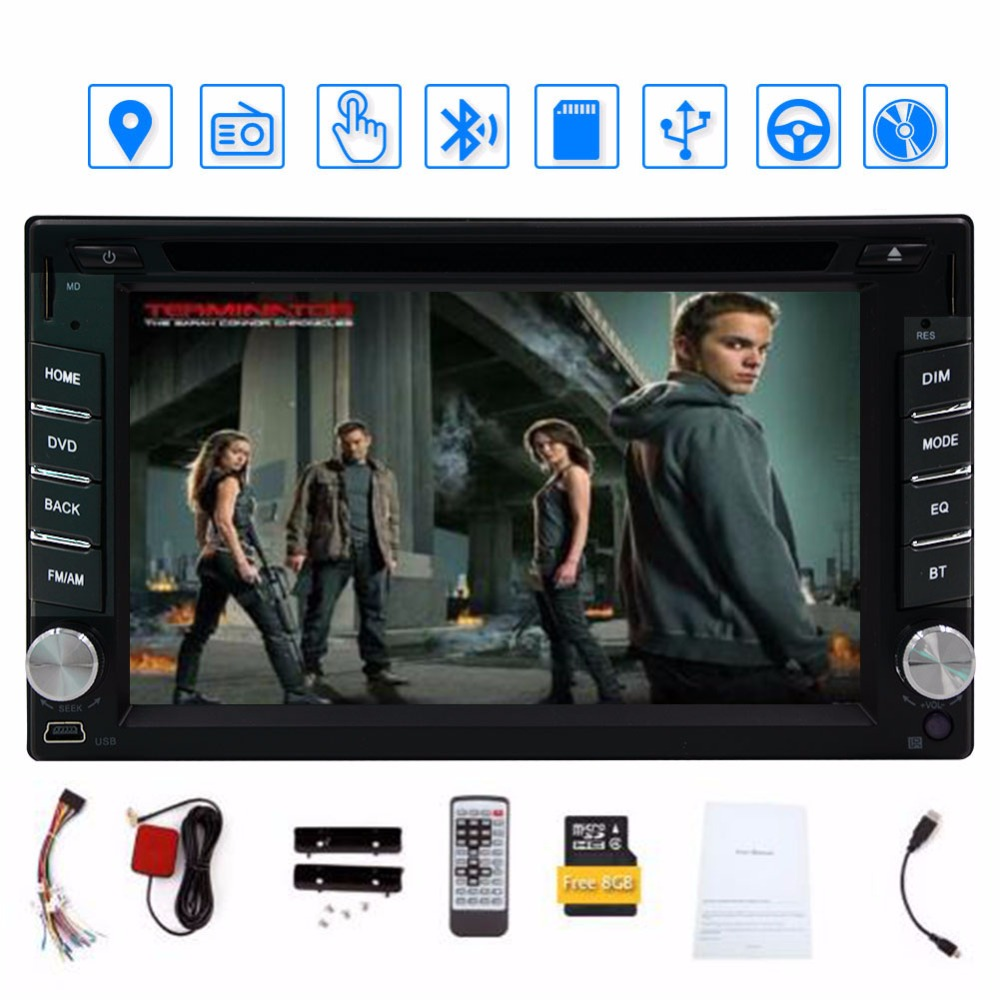 Free 8GB Map Card+Eincar 6.2'' Double Din Car DVD Player car-styling gps tracker AM/FM Radio GPS Navigation Car Stereo Audio free shipping car refitting dvd frame dvd panel dash kit fascia radio frame audio frame for 2012 kia k3 2din chinese ca1016