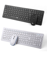 E Element E320 2 4GHz Wireless Super Slim White Multimedia Chocolate Keyboard Mouse Combo Set For