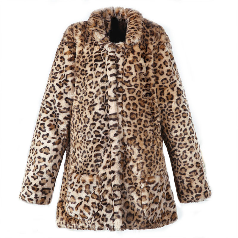 2016 new arrival leopard long coat winter autumn women sexy fur coat Jacket Long cardigan Faux fur coat winter female Fur Coat winter jacket coat women 2017 new brand solid casual faux fur collar zipper female jacket hot sale coat female gd280