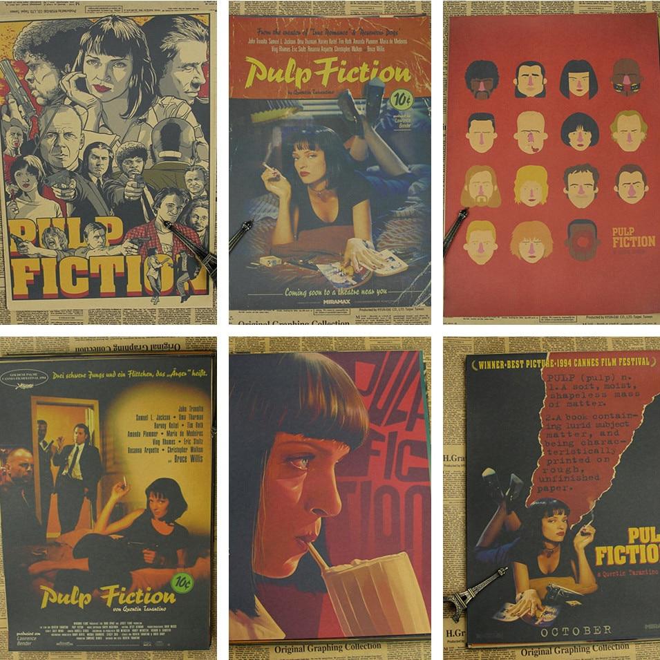 free-shippingpulp-fiction-quentin-font-b-tarantino-b-font-classic-movie-kraft-paper-bar-poster-retro-poster-decorative-painting