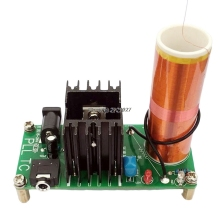 Наборы 15 Вт Tesla мини катушка плазменный динамик DC 15-24 в беспроводной передатчик генератор M10 Dropship