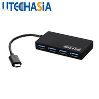 Ultra Thin HUB USB Multi Interface Splitter USB 3.1 Hub 4 Port USB Type C Hub Splitter Adapter For Macbook Air Mobile Phone etc