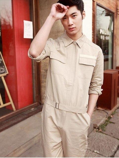 2016 Новых людей способа брюки дамские Британский Европейских и Американских минималистский ретро костюмы комбинезоны брюки мужские комбинезон