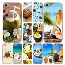 Lavaza Fruto de Coco na praia Caixa Do Telefone para Apple iPhone 4 4S 5C 5S SE 6 7 6 S 8 Plus 10 X Xr Xs Max 7 6 Plus Plus(China)