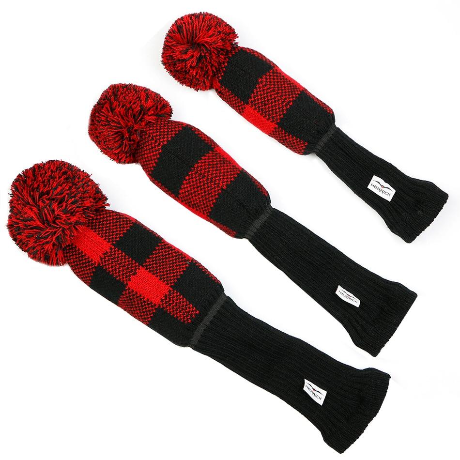 Купить с кэшбэком Golf Club head covers Fairway Wood head covers knitting wool covers irons headcover Golf Accessories Free Shipping