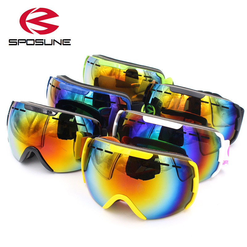 2017 New Snowboard Goggles Men Women Skiing Glasses Anti Fot Double Lens Skibrille Snowmobile Goggles Profession Ski Googles
