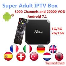 Super Italy IPTV X96 mini font b Android b font 7 1 Smart font b TV