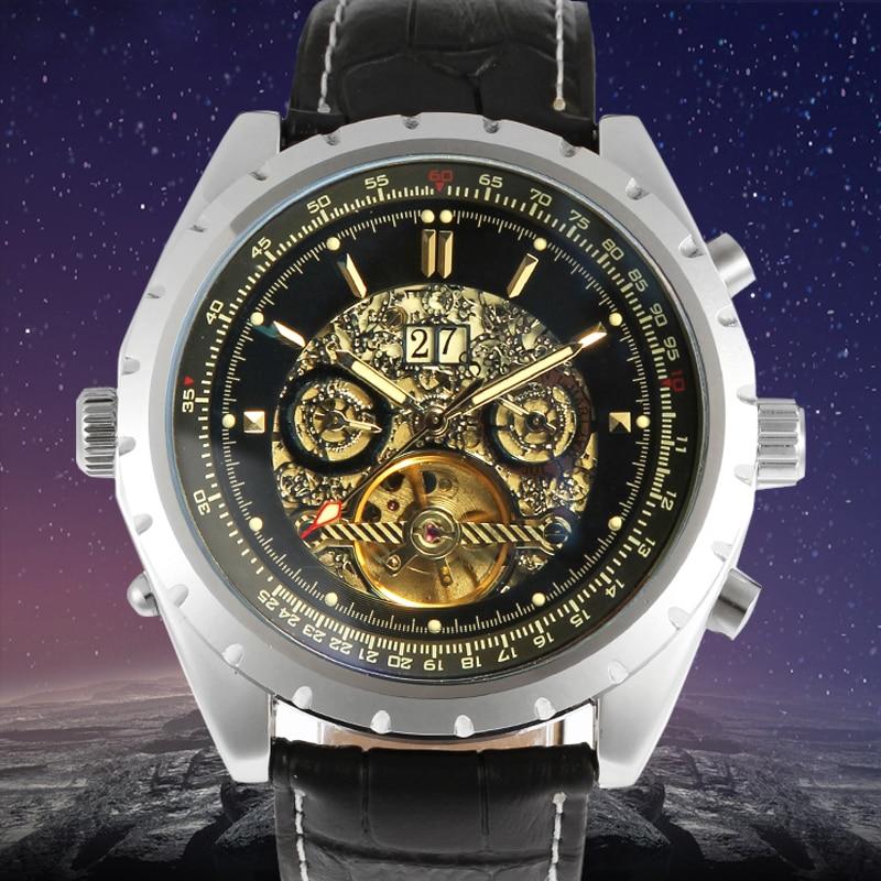 цена на Jargar Automatic Men Watch with Black Leather