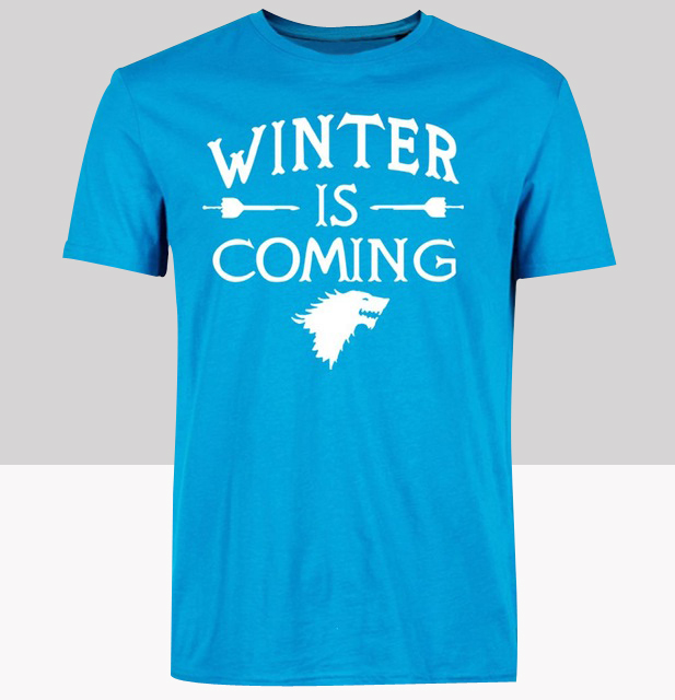 JY HOUSE STARK GAME OF THRONES T-shirt top Lycra cotton Fashion Brand men t shirt high quality