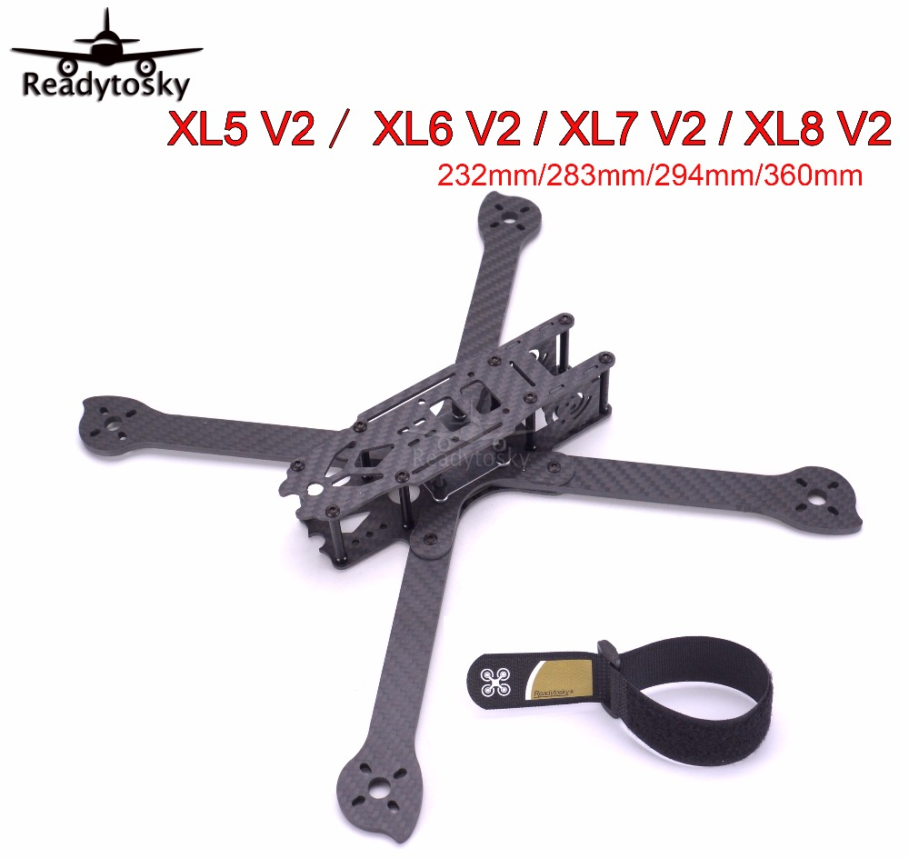 3 K fibre de carbone True X XL5 V2 232mm/XL6 V2 283mm/XL7 V2 294mm/XL8 V2 360mm w/4mm bras Freestyle cadre pour FPV Racing