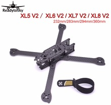 3K Full Carbon Fiber True X XL5 V2 232mm / XL6 V2 283mm / XL7 V2 294mm / XL8 V2 360mm w/4mm arm Freestyle Frame for FPV Racing